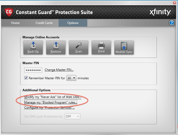 Xfinity (Comcast) Constant Guard may block Elgato Game Capture HD